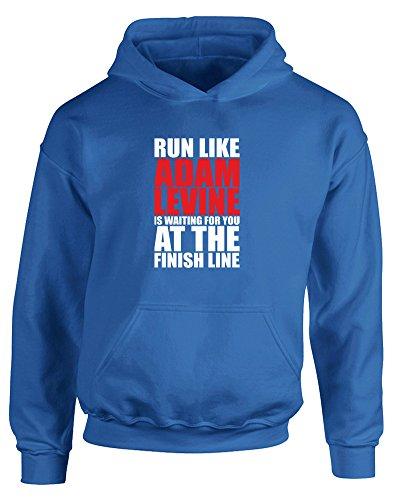 run-like-adam-levine-is-waiting-enfants-imprime-a-capuche-bleu-blanc-rouge-12-13-ans