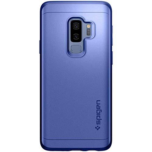 Spigen Thin Fit 360 Cover Galaxy S9 Plus, Caso Protezione esatta Slim Full Screen Protector Vetro temperato Samsung Galaxy S9 Plus (2018), Blu Corallo