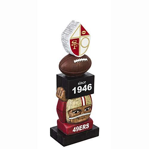 Team Sports America San Francisco 49ers Vintage NFL Tiki Totem Statue