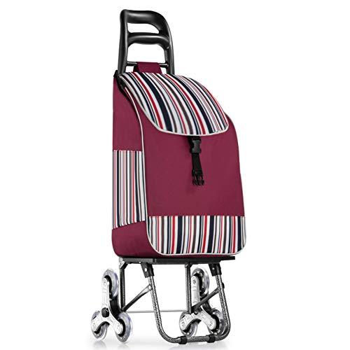 Einkaufstrolley treppensteiger 6 Runden,kann fest gefaltet Werden und leicht zu speichern Einkaufstasche: 30 * 20 * 48cm