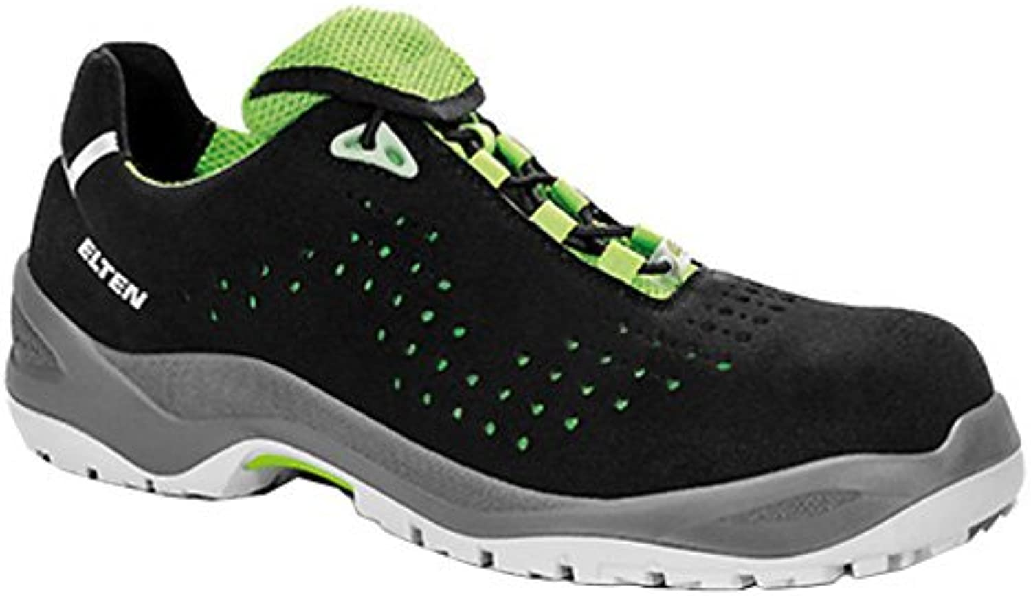 - Elten Impulse Green Low Esd S1p, Zapatos de Seguridad Unisex adulto, Negro (Schwarz 1), 36 EU