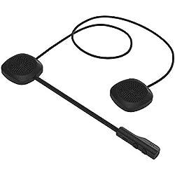 Docooler Casque de Moto Casque Bluetooth 5.0 + EDR Casque Casque sans Fil écouteur Mains Libres avec Le contrôle de la Musique Mic