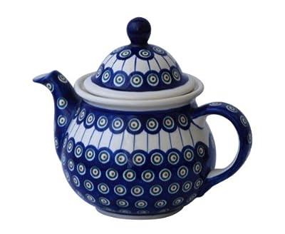 Boleslawiec Pottery-Théière grand modèle - 1,7 L en céramique de Boleslawiec Motif 8