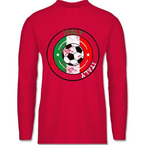 Shirtracer Fußball - Italy Kreis & Fußball Vintage - Herren Langarmshirt Rot