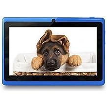 Yuntab Q88 Tablet de 7'' (WiFi, Quad-Core, Android 4.4.2 KitKat , HD 800x480, 32 GB, 4GB ROM, Doble Cámara, Google Play) Color azul