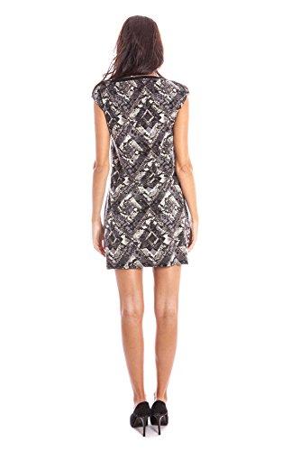 LAVAND. 125L1-4-1 Kurtzes Kleid Damen grau GREY