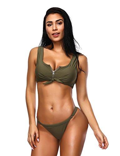 Feelingirl bagno sexy intero frange bikini sexy push up costumi da mare spiaggia brasiliana trikini