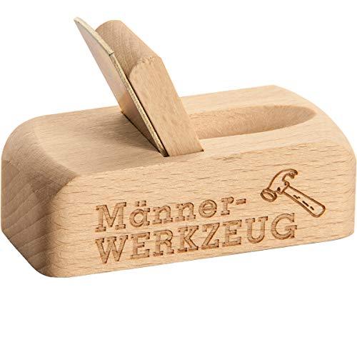 Spruchreif PREMIUM QUALITÄT 100% EMOTIONAL · Flaschenöffner aus Holz mit Gravur · Bierhobel mit Spruch · perfektes Männergeschenk (Männerwerkzeug) -