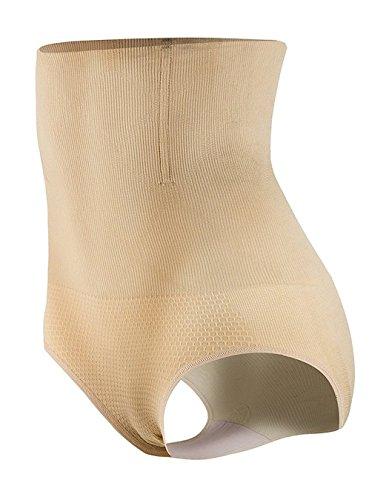 ALICECOCO Miederpants Damen Bauchweg figurenformend Hochtaille Miederslip String Butt Lifter Shaper Taillenmieder Miederhose Unterwäsche Beige-A