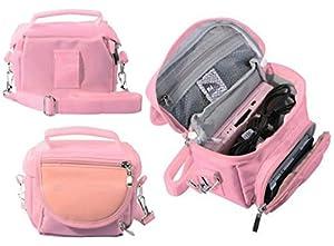 Housse de protection sac pochette de voyage rose pour for Housse 3ds xl zelda