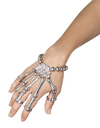 Smiffy's 45601 - Skelett-Hand Armband (Skelett Hände Kostüm)