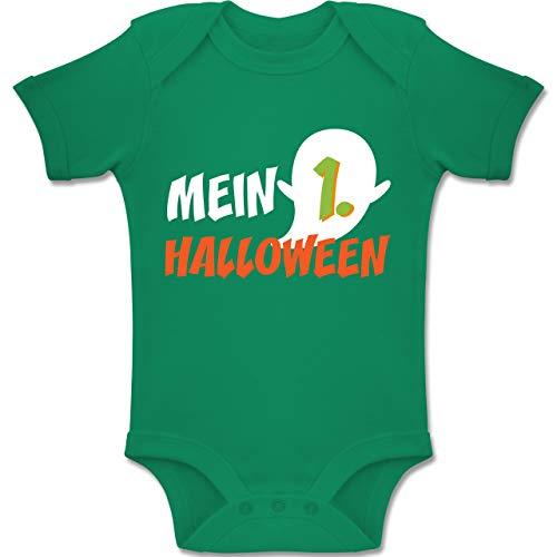 Shirtracer Anlässe Baby - Mein erstes Halloween Geist - 12-18 Monate - Grün - BZ10 - Baby Body Kurzarm Jungen Mädchen