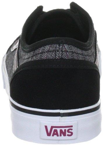 Vans W Devan, Baskets mode femme Menswear (Black/Rose)