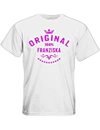 T-Shirt Nur wo Franziska drauf steht ist auch Franziska drin schwarz Damen Gr S