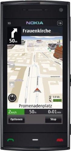Nokia X6 Navigations Edition Smartphone (8,1 cm (3,2 Zoll) Display, Touchscreen, 5 Megapixel Kamera, 16 GB interner Speicher) schwarz Nokia X6 Touch Screen