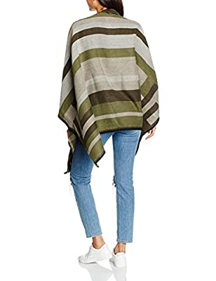 ONLY Women's onlTRINA WEAVED PONCHO ACC Poncho, Grey (Pumice Stone), One size