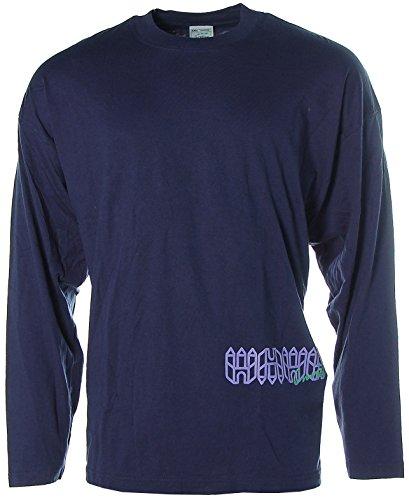 Screen Stars by Fruit of the Loom maglia a maniche lunghe collo rotondo Blu