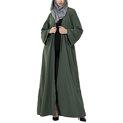 East Essence - Robe - Solid - Manches Longues - Femme green