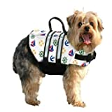 Paws Aboard PAWN1100 Designer Doggy Life Jacket In Nautical Print - Size XX-Small