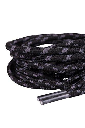 Mountain Warehouse Lacets Ronds texturés - 100cm, Adaptés à la Plupart des Chaussures, pour Chaussures de randonnée, Baskets - Usage Quotidien, randonnée