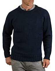 Wool Overs Pull homme en pure laine à col rond