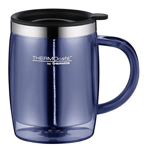 ThermoCafé by Thermos 4059.256.035 Tasse Desktop Mug, 0.35 L, Kunststoff, blau