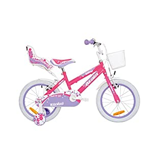 "41OwNzOSMAL. SS300 Atala Mountain Bike 16"" Ballerina Fuchsia Neon"