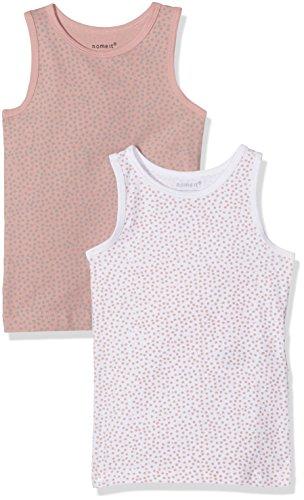 NAME IT Baby-Mädchen NMFTANK TOP 2P NOOS Unterhemd, Mehrfarbig (Rose Tan), 98 (2er Pack)