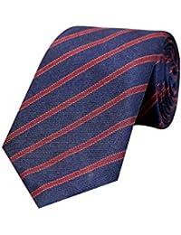 Tiekart Blue Formal Cotton Striped Tie for Men