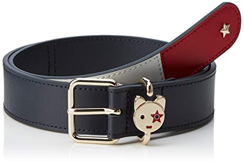 brand new available sale retailer Tommy Hilfiger Mascot Belt 3.0 Cinturón, Azul (Corporate 901), 95 (Talla  del fabricante: 80) para Mujer
