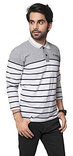 4e85cf245 ZEYO Men s Cotton Striped White Polo Tshirt Full Sleeve – GLAMBING