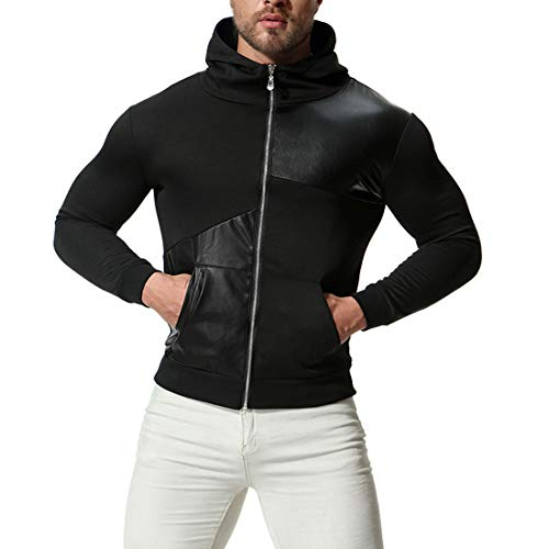 SUCES Herren Winter Freizeit Sport Cardigan Reißverschluss Sweatshirts Tops Jacke Mantel Pullover Sweater mit Schalkragen aus hochwertiger Baumwollmischung Outwear Jacket(Schwarz2,S) (Jungen Winter Nike Mäntel)