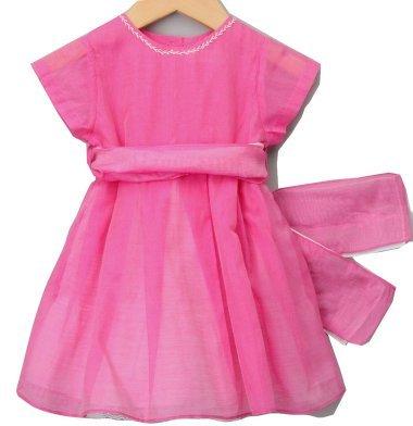 Malvi Fusia Seide und Baumwolle Voile Kleid 4Jahre.–NEU (Seide Baumwolle Kleid Voile)