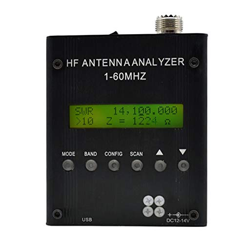 MR300 Antenna Analyzer Acogedor MR300 Digital Antenna Analyzer Meter Tester,Black