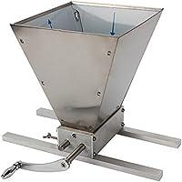 OUKANING Schrotmühle Crusher Getreidemühle Malzmühle Verstellbare Heimbrauer Edelstahl Schrotmühle Crusher Brewers