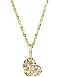 14K Amarillo Oro Brillante 6,7x 11.1mm H I1calidad 0,114KT oro amarillo 0,7mm Collar de cable redondo–41C