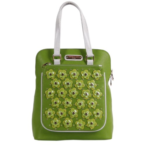 nicole-lee-makenzie-floral-encrusted-beads-backpack-purse-green-one-size
