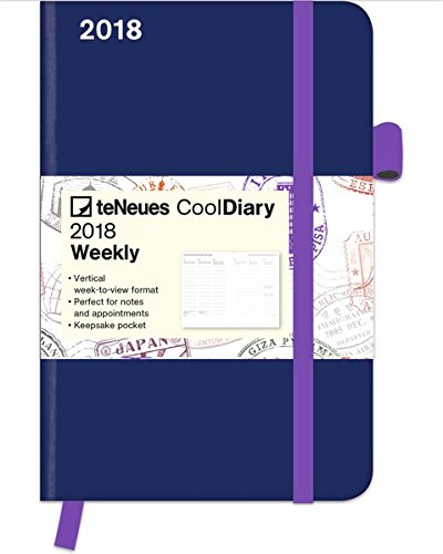 2018 Blue/Stamp Diary - teNeues Cool Diary - Weekly 9 x 14 cm
