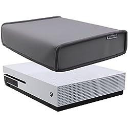 Pandaren® prueba de polvo Funda de neopreno cubierta protectores horizontal para Xbox One S (gris)