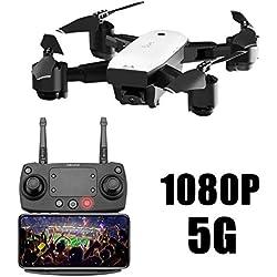 SMRC S20 Drone Inteligente Dual Posicionamiento GPS Retorno Profesional Drone HD Fotografía Aérea Avión de Control Remoto Quadcopter Modelo Aviones (5G)
