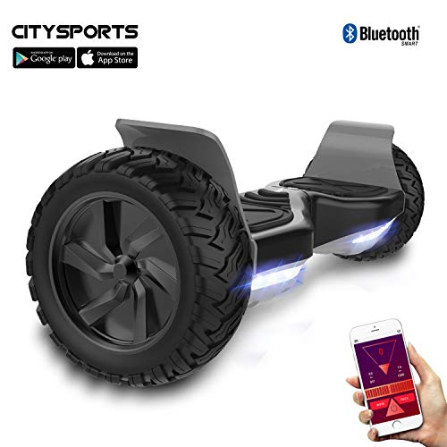 "CITYSPORTS Hoverboard, 8,5""All Terrain Hoverboard, Hoverboard Hummer SUV, Bluetooth und APP, 700W"