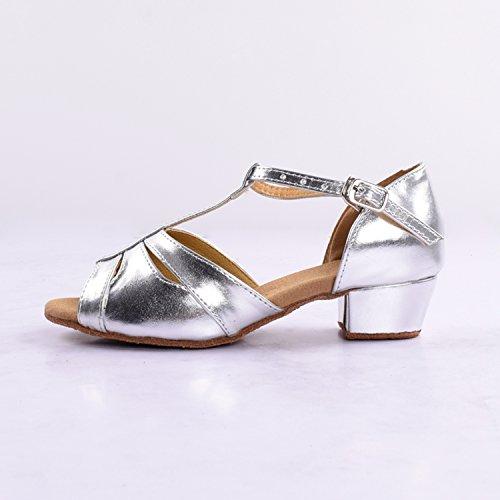 Kevin Fashion , Chaussures de danse fille Argent - Argent