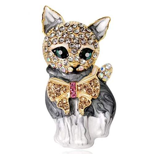 Carry stone Frauen Mädchen Kristall Katze Brosche Emaille Brosche Abzeichen für Party nützlich und praktisch