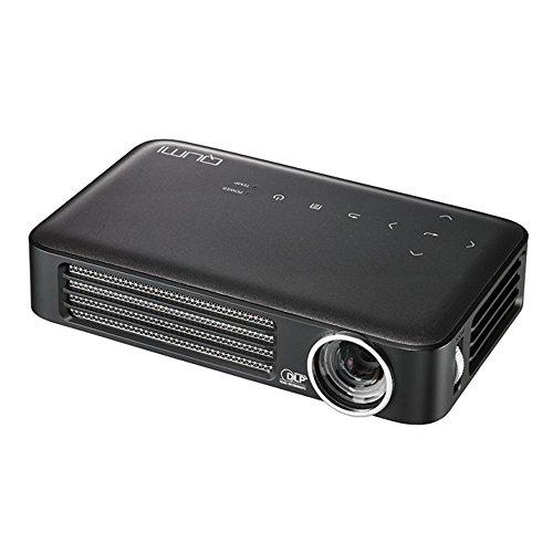 vivitek Qumi Q6, kompakter LED-Projektor im Taschenformat, 800 Lumen, Wireless, 1280x800 Pixel, 2.5GB interner Speicher, HDMI und USB Eingang, anthrazit (Schwarz Holzkohle Notebook)