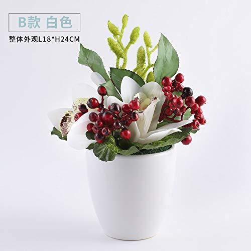 Xin Pang Hochzeit Dekoration Inneneinrichtung Emulation Flower Kit Home Wohnzimmer Esstisch modernes Schlafzimmer Swing kleine Topfpflanzen und frischen Blumen, die Große weiße Blume Emily Ho