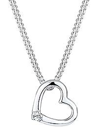 Elli Damen-Halskette Herzen 925 Sterling Silber mit Kristallen von Swarovski Länge 0106861412_45