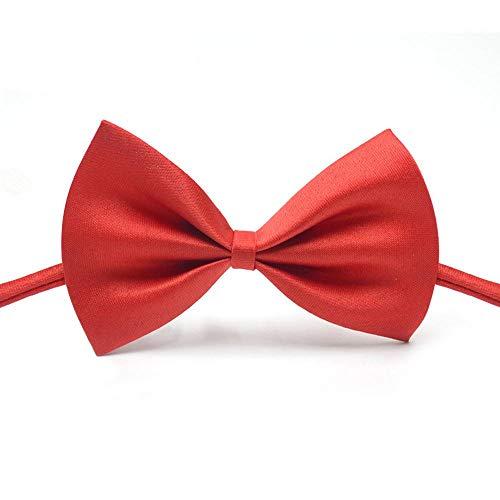 KOBWA Haustier Kostüm Fliege Rot Einstellbar Hund Katze Bogen Krawatten Handgemachte Fliege Halsbänder für Katzen Hunde Welpen Grooming Zubehör