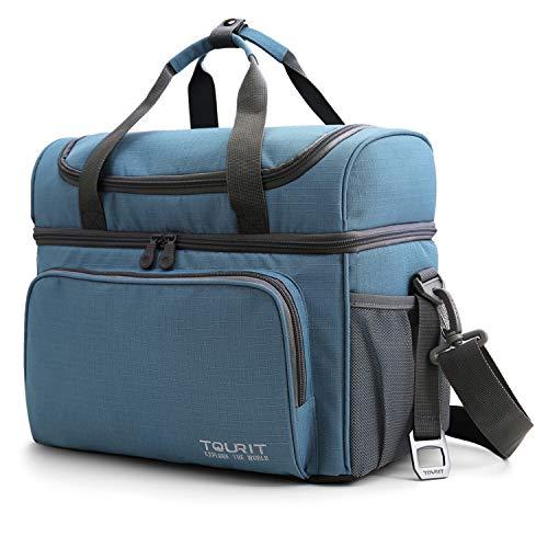 TOURIT Kühltasche Thermotasche 22L Leicht 24 Dosen Picknicktasche Lunchtasche Lecksicher mit Flaschenöffner für Reisen, Picknick, Camping, Wandern, Beach