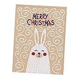 SM SunniMix Weihnachten Baumwolle Türvorhang Tür Vorhang Gardine Balkonvorhang Deko - Kaninchen Beige S