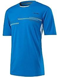 Head Club Technical Camiseta de, hombre, color azul, tamaño mediano